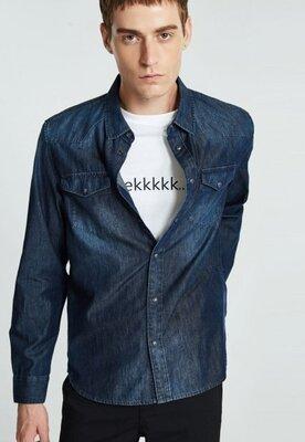 Джинсовая рубашка с длинными рукавами Jack & Jones XS или мальчику подростку
