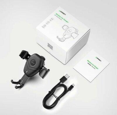 Продано: Универсальный автодержатель для телефона c беспроводным зарядным устройством QI Ugreen ED014 10W Че