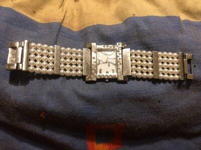 Часы Misaki оригинал, натуральный жемчуг, рабочие, хорошее состояние