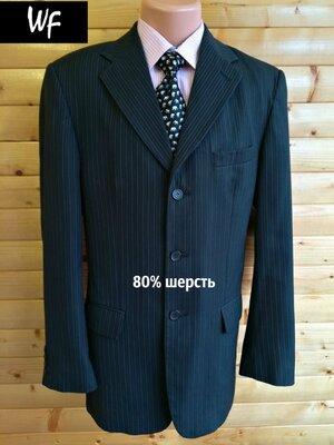 Комфортный базовый костюмный пиджак в полоску West Fashion.