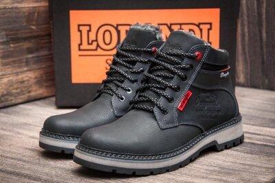 Мужские зимние кожаные ботинки Wrangler Arizona Black
