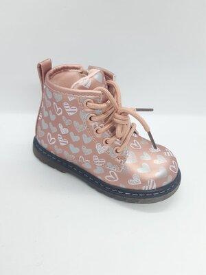 Демисезонные ботинки на девочку 21-25 р., С.луч, осенние, весенние, флисе, утепленные