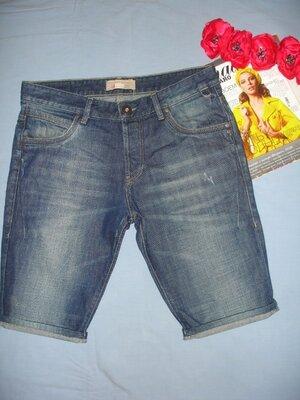 шорты джинсовые мужские летние размер 48 W 34 синие