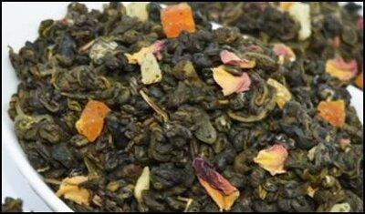 Чай зеленый абрикосовый джем, цена 50грн/100г.