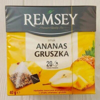 Чай пирамидки фруктовый ананас и груша Remsey 20 пакетиков 40g Польша