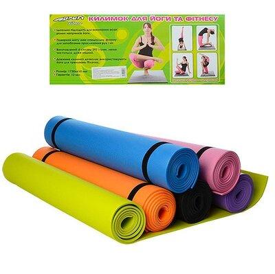 Йогамат коврик для фитнеса и йоги M 0380