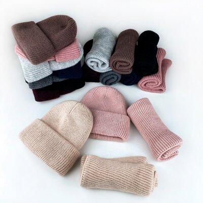 Набор зимний шапка хомут снуд шарф 54-56р.