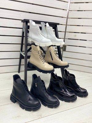 Женские ботинки бежевые