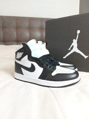 Кроссовки Nike Air Jordan 1 Retro Black White AAA 36-37-38-39-40-41-42-43-44