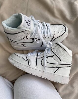 Кроссовки Nike Air Jordan 1 Retro White AAA 36-37-38-39-40-41-42-43-44