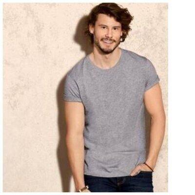 2 шт. набор Мужская базовая футболка livergy Германия -р. М, Светло-Серая, новая
