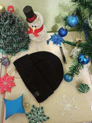 шапка мужская с отворотом шапочка. флис. новая черная синяя серая чоловіча чорна синя сіра нова