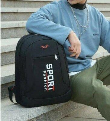 Большой спортивный рюкзак мужской,женский черный, серый