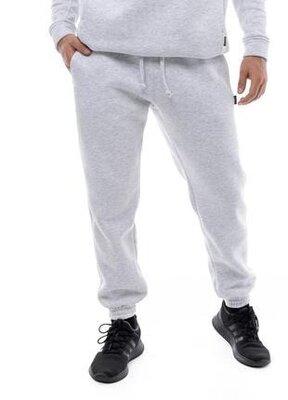 Спортивные штаны мужские серый меланж на флисе intruder oversize