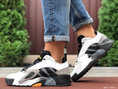 Мужские кроссовки Adidas Streetball белые с черным