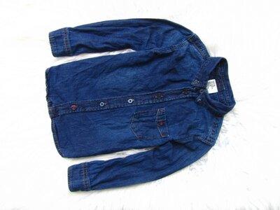 Качественная джинсовая рубашка с длинным рукавом H&M