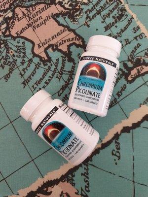 Source Naturals, Пиколинат хрома, 200 мкг, 240 таблеток.