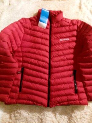 Продано: Куртка пуховик мужской Columbia красная