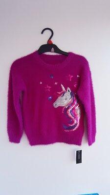 4-8 лет Шикарный пушистый свитерок из Англии