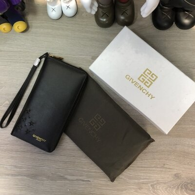 Givenchy Zippy Organiser Stars Logo Black