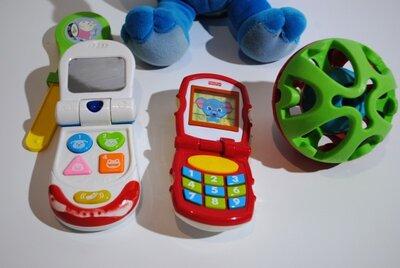 Лот игрушки Fisher Price для малышей телефон мячик музыкальные elc