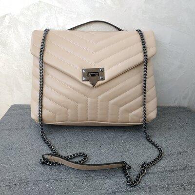 Кожаная женская новая стильная сумка - Италия