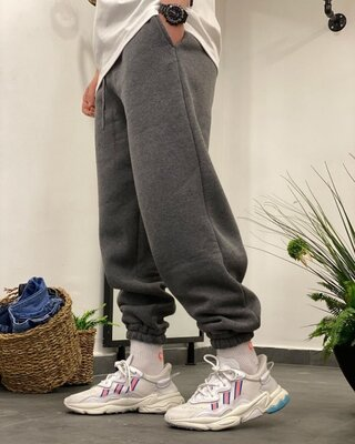 Продано: Тёплющие штаны на флисе оверсайз 2 цвета