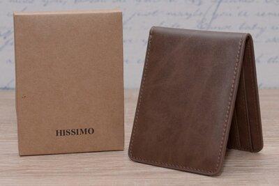 Мужской кошелек, портмоне HISSIMO с RFID защитой 10х8х1 см