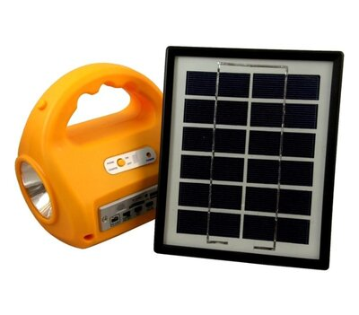 Кемпинговый фонарь с солнечной батареей и радио No 7655