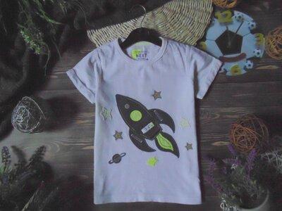 3-4года.Суперовая футболка с ракетой Next.мега выбор обуви и одежды