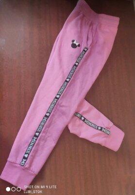 Штаны джоггеры для маленькой модницы на флисе
