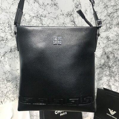 Мужская сумка Messenger Givenchy Embossed Canvas Black