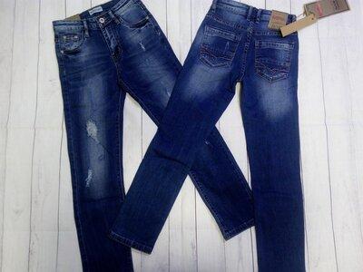 Стильные джинсы-рванки 140,146,158. Венгрия.