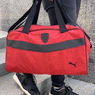 Сумка спортивная унисекс Puma Пума Красная-Черная