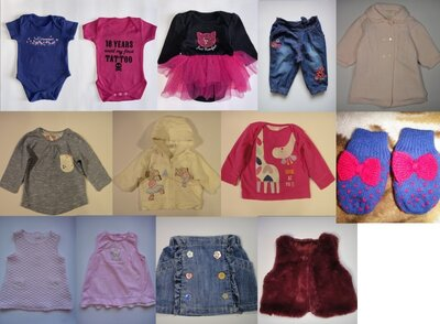 Одежда пакетом для девочки 0-3 мес 13 шт