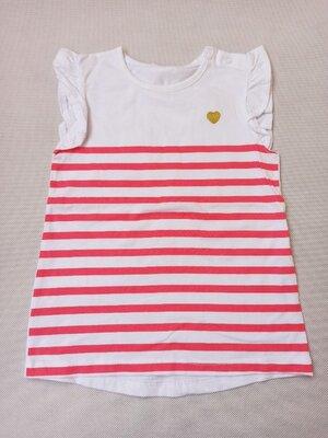 Стильная футболка туника на девочку рост 86 Моя горошина