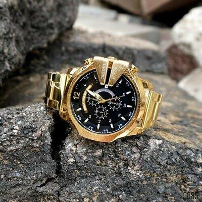 Продано: Мужские часы Diesel 10 Bar 8712 Gold-Black