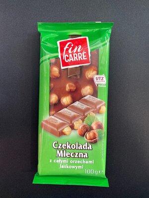 Продам молочный шоколад с цельным орехом