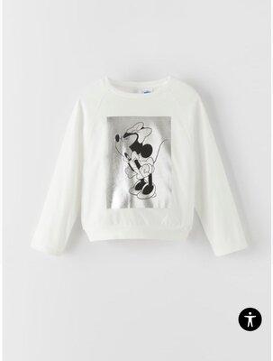 Кофта реглан свитшот с Минни на девочку 9л Zara, кофта Реглан світшот на 9 років. Фірма Zara.