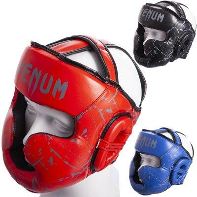 Шлем боксерский детский с полной защитой Venum 0394 размер S-M 6-7 лет