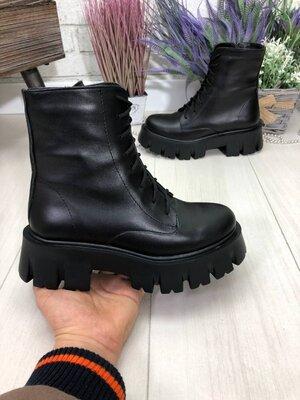 Демисезонные ботинки, натуральная кожа, 36-41