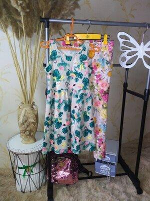 6-8 лет Трикотажное платье H&M новое сток