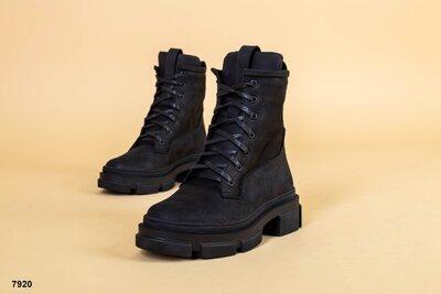 Код 7920д Женские ботинки Размеры 36-41 Сезон деми Цвет черный Материал верха нубук Внутри бай