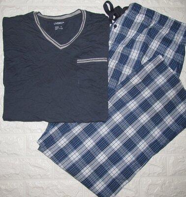 Livergy новая мужская пижама 2в1 в размере Хl 56-58 кофта с длинным штаны Германия