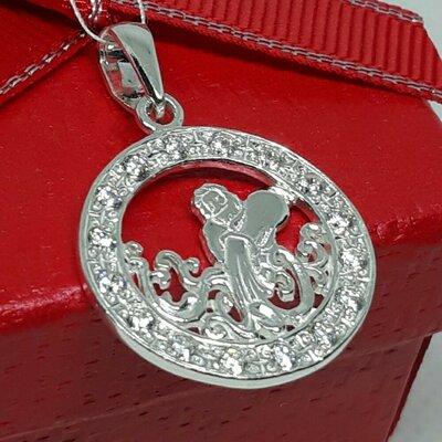 Серебряный подвес кулон гороскоп Водолей оберег амулет Срібний підвіс серебро 925