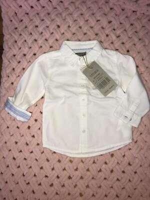 Рубашка белая нарядная canada house испания