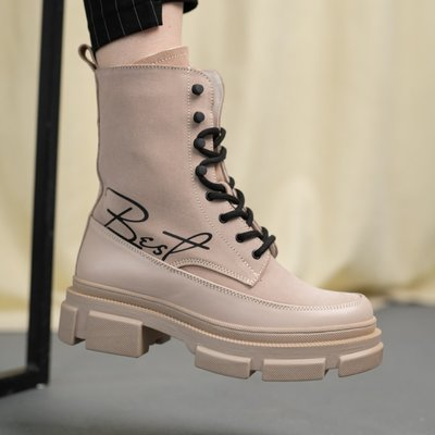 Женские деми ботинки Best Vak на байке с нат. кожи