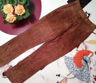 Брендовые штаны Marc Cain, 100% натуральная замша, размер XS/S