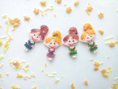 Сахарные девочки для украшения кондитерских изделий