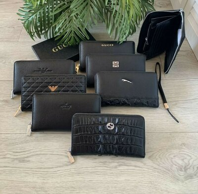 Шикарный кожаный кошелек клатч, мужской клатч кошелек портмоне